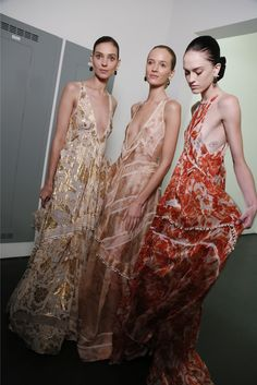 Backstage at Altuzarra RTW Spring 2015 [Photo by Kyle Ericksen]