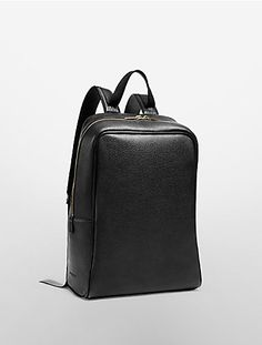 Calvin Klein Collection - grain calf backpack