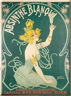 Absinthe Blanqui Tin Sign - AllPosters.co.uk