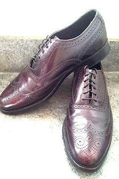 FLORSHEIM Royal Imperial Wing Tip Cordovan Burgundy Dress Shoes Mens Sz 9 D SOLD