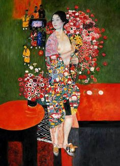 This fine art photo print features the stylish beauty of a Dancer holding flowers from a colorful painting by Gustav Klimt. This particular painting seems to have both a Japanese and impressionistic style as well as the symbolic flare Klimt is known for. Art Klimt, Kunst Online, The Dancer, Inspiration Art, Art For Art Sake, Oeuvre D'art, Japanese Art, Painting & Drawing, Art Nouveau