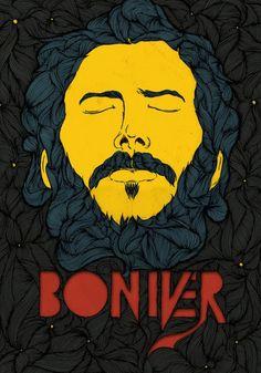 Music poster design bon iver new ideas Rock Posters, Band Posters, Concert Posters, Gig Poster, Retro Posters, Bon Iver, Music Covers, Book Covers, Music Artists