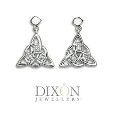 Other Custom Designs Portfolio l Dixon Jewellers Diamond Jewelry, Diamond Earrings, Triquetra, Celtic Knot, Portfolio Design, Custom Jewelry, Custom Design, White Gold, Brooch