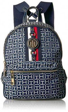 0201cc3fe Tommy Hilfiger Women's Backpack Jaden, Navy/White/Gold Multipurpose Daypack  #backpack #
