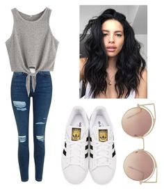 """Cute outfit"" by mikayla714 on Polyvore featuring Topshop, adidas Originals and MANGO"