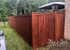 Modern Fence Systems [Metal Frame + Any Infill] - FenceTrac by Perimtec Cedar Fence Stain, Wood Privacy Fence, Wood Fences, Fencing, Modern Wood Fence, Redwood Fence, Painting Galvanized Steel, Backyard Fences, Backyard Ideas
