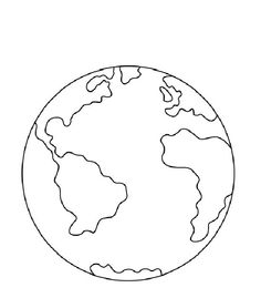 planet earth coloring page...for my multicultural week | Teaching ...