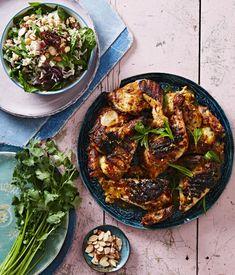 Butterflied Tandoori Chicken with Rice Salad