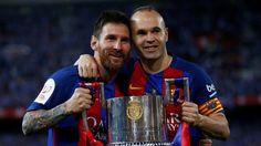 Andres Iniesta - her sammen med Lionel Messi - er på ønskelisten i Inter.