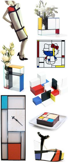 From Yves Saint Laurent to Christian Louboutin to hello kitty, Piet Mondrian's gorgeous grids continue to inspire from head to toe.