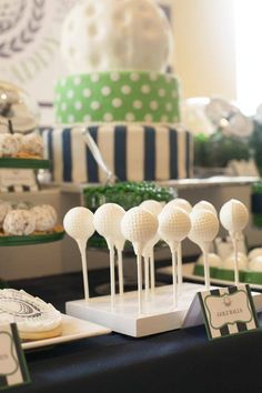 Baby Shower Ideas on decorations, over 50 baby shower themes, FREE Baby Shower Games Printable and baby shower Favors Baby Shower Cookies, Baby Shower Favors, Baby Shower Themes, Baby Boy Shower, Bridal Shower, Shower Ideas, Golf Party Favors, Golf Party Decorations, Boy Birthday Invitations