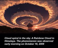 A cloud spiral?!?! Mother Nature is amazing.