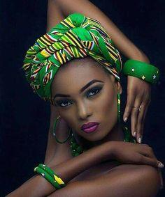 47 Trendy Ideas For Fashion African Women Dresses Head Wraps Black Women Art, Black Girls, African Beauty, African Fashion, Ghanaian Fashion, Men's Fashion, African Makeup, Trendy Fashion, Green Fashion