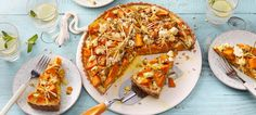Süßkartoffel-Feta-Quiche - New Site Quiche Recipes, Veggie Recipes, Vegetarian Recipes, Healthy Recipes, Healthy Food, Feta, No Bake Cake, Vegetable Pizza, Food Inspiration
