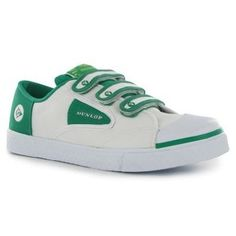 Dunlop Green Flash are too cool for school. Iconic retro trainers that make even Velcro straps look cool.