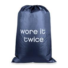 haha  Novelty Icon Laundry Bag - Twice/Green