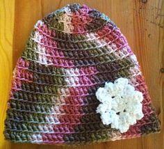 Pink Camo Crochet Hat