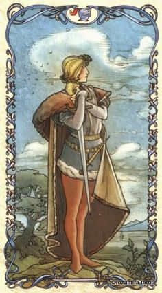 Page of Swords, Tarot Mucha