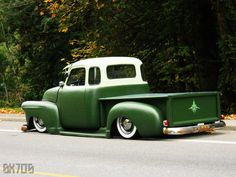 Chevy Pickup- don't like that it's lowered. Love the paint.