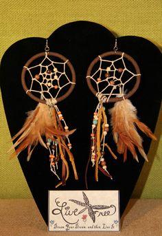 Live Free Designs   by: CC Scott  Dreamcatcher Earrings