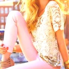 lace and pastel