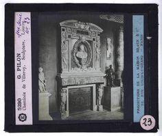 Matthieu JACQUET (1545-1611) (Attribué à), La Cheminée de Villeroy à Mennecy. Exposée au musée du louvre. photographie de Germain Pilon, 1914. #fireplacemantel #louvreMuseum