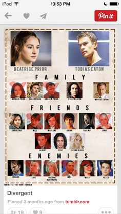 Divergent/Insurgent characters, missing Allegiant. Divergent Hunger Games, Divergent Fandom, Divergent Trilogy, Divergent Quotes, Divergent Insurgent Allegiant, Divergent Characters, Divergent Dauntless, Tris Prior, Veronica Roth
