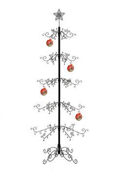 Metal Ornament Tree, Metal Tree, Christmas Tree Ornaments, Wrought Iron Christmas Tree, Artificial Christmas Tree Stand, Babysitting Activities, Halloween Christmas, Xmas, Black Christmas