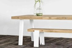 Maatwerk Tafel type Dani Dining Bench, Console Table, Outdoor Furniture, Outdoor Decor, Lab, Home Decor, Rough Wood, Living Spaces, Dinner Table