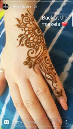 Henna Tattoo Designs Simple, Finger Henna Designs, Simple Arabic Mehndi Designs, Henna Art Designs, Mehndi Designs 2018, Mehndi Designs For Beginners, Mehndi Designs For Fingers, Beautiful Mehndi Design, Henne Tattoo