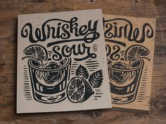 It's been a while since I've added to the Classic Cocktail collection but by popular request, I have added the Whiskey Sour. You can find this print and all other prints in the Classic Cocktail ser...