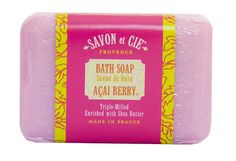 Savon et Cie Triple Milled Soap enriched with Organic Shea Butter 100 Pure Vegetable Based Natural French Soap Energizing Paraben Free Aai Berry 7 oz Bar >>> You can get additional details at the image link. Whipped Body Butter, Shea Butter, French Soap, Acai Berry, Bath Soap, Organic Makeup, Deodorant, Lip Balm, Berries