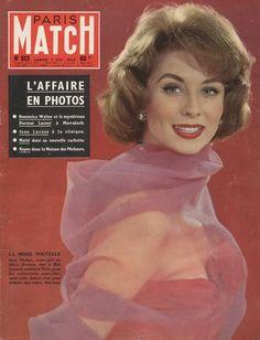 Suzy Parker en couverture de Paris-Match en 1959, photo de Wily Rizzo