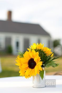 banquet table decorations sunflowers - Google Search