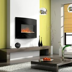 "Napoleon 32"" Curved Electric Fireplace #LearnShopEnjoy"