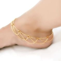New Arrival Fashion Women Beach Jewelry Barefoot Sandal Ankle Foot Link Mesh Tassel Chain Anklet Bracelet Drop Shipping Gold Anklet, Anklet Jewelry, Beach Jewelry, Body Jewelry, Jewelry Sets, Jewellery, Ankle Braclets, Leg Chain, Anklet Designs