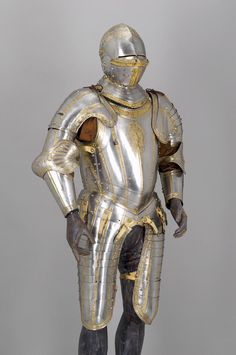 Armor for Emperor Charles V, made by Desiderius Helmschmid, 1543, iron, brass, leather, and gold, Kunsthistorisches Museum, Vienna.MFAH | Exhibitions | Habsburg Splendor: Masterpieces from Vienna's Imperial Collections