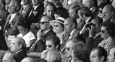 The Queen watches the Ashes Centenary Test Match in Melbourne in 1977. The Test Match marked the 100th anniversary of the first England v Australia Test Match played in Australia in 1877. © Press Association