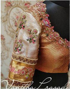 Wedding Saree Blouse Designs, Saree Blouse Neck Designs, Fancy Blouse Designs, Blouse Patterns, Blouse Designs Catalogue, Zardosi Work, Long Dress Design, Hand Work Blouse Design, Embroidered Blouse