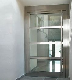 contemporary stainless steel entry doors | ... Stainless Steel Entrance Doors | Door Designs | Modern Exterior Door