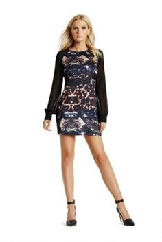 Shady Hollow-Print Dress | GUESS.com