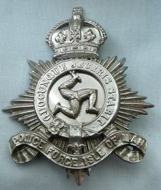 Great Britain Isle of Man Police Force Cap Badge (Out-of Service) Police Badges, Police Cars, Police Vehicles, Law Enforcement Badges, Law Enforcement Officer, Military Insignia, Military Police, Fire Badge, Fallen Officer