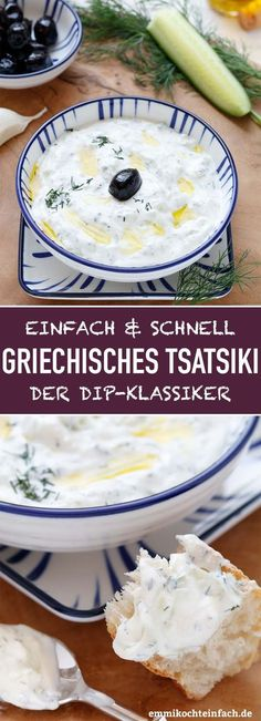 Griechisches Tsatsiki - ganz einfach selbstgemacht - My list of the most healthy food recipes Healthy Cooking, Healthy Snacks, Healthy Recipes, Easy Recipes, Barbecue Recipes, Barbacoa, Quick Easy Meals, Salad Recipes, Side Dishes