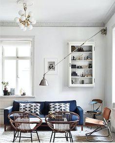 Un salon à l'esprit scandinave rétro