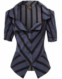 Looks like a Vivienne Westwood Anglomania Poppy blouse in stripes! Moda Chic, Vivienne Westwood Anglomania, Look Vintage, Beautiful Outfits, High Fashion, What To Wear, Style Me, Women Wear, Shirts