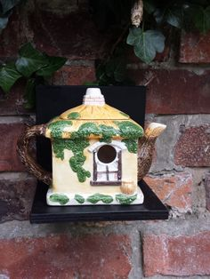 Vintage teapot bird house, garden decoration. Quirky up-cycled china teapot nest box, garden ornament. Bird lover's gift, garden decor. - pinned by pin4etsy.com