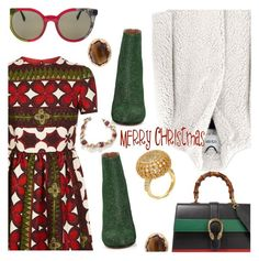 """""""Merry Christmas and Thank You"""" by stacey-lynne ❤ liked on Polyvore featuring Valentino, Kenzo, Maison Margiela, Gucci, Fendi and H.Azeem"""