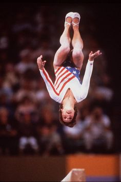 FROM THE PAST ~ 1984 - Mary Lou Retton Gymnastics, Los Angeles Summer Olympics  Mary Lou Retton took first in overall, women's gymnastics, at the 1984 Olympics.