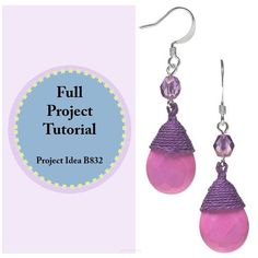 """41 Likes, 1 Comments - Fire Mountain Gems and Beads (@firemountaingems) on Instagram: """"If purple is your passion, or maybe even a bit of pink, these Grape Sorbet #earrings are sure to…"""""""
