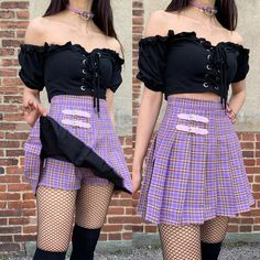 Casual Fall Outfits That Will Make You Look Cool – Fashion, Home decorating Pastell Goth Outfits, Cute Goth Outfits, Lila Outfits, Purple Outfits, Grunge Outfits, Pastel Goth Fashion, Kawaii Fashion, Cute Fashion, Fashion Outfits